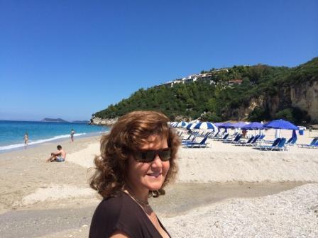 linda on karovostasi beach